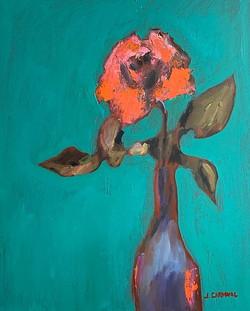 Orange Flower, 20x16, o/c