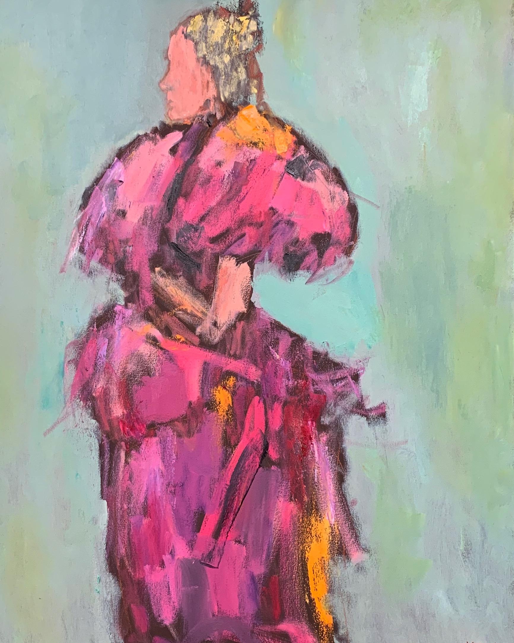 Paris Pink, 40x30, o/c