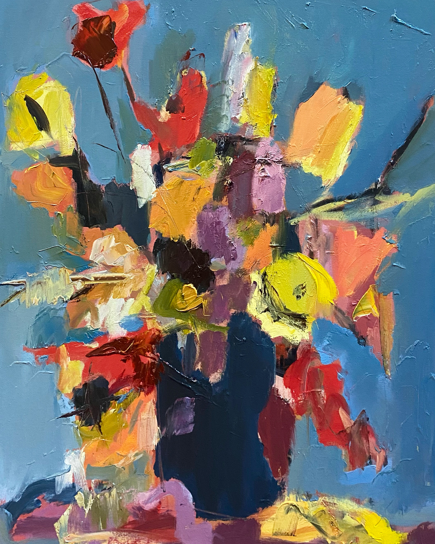 Winter Flowers, 28x22, o/c