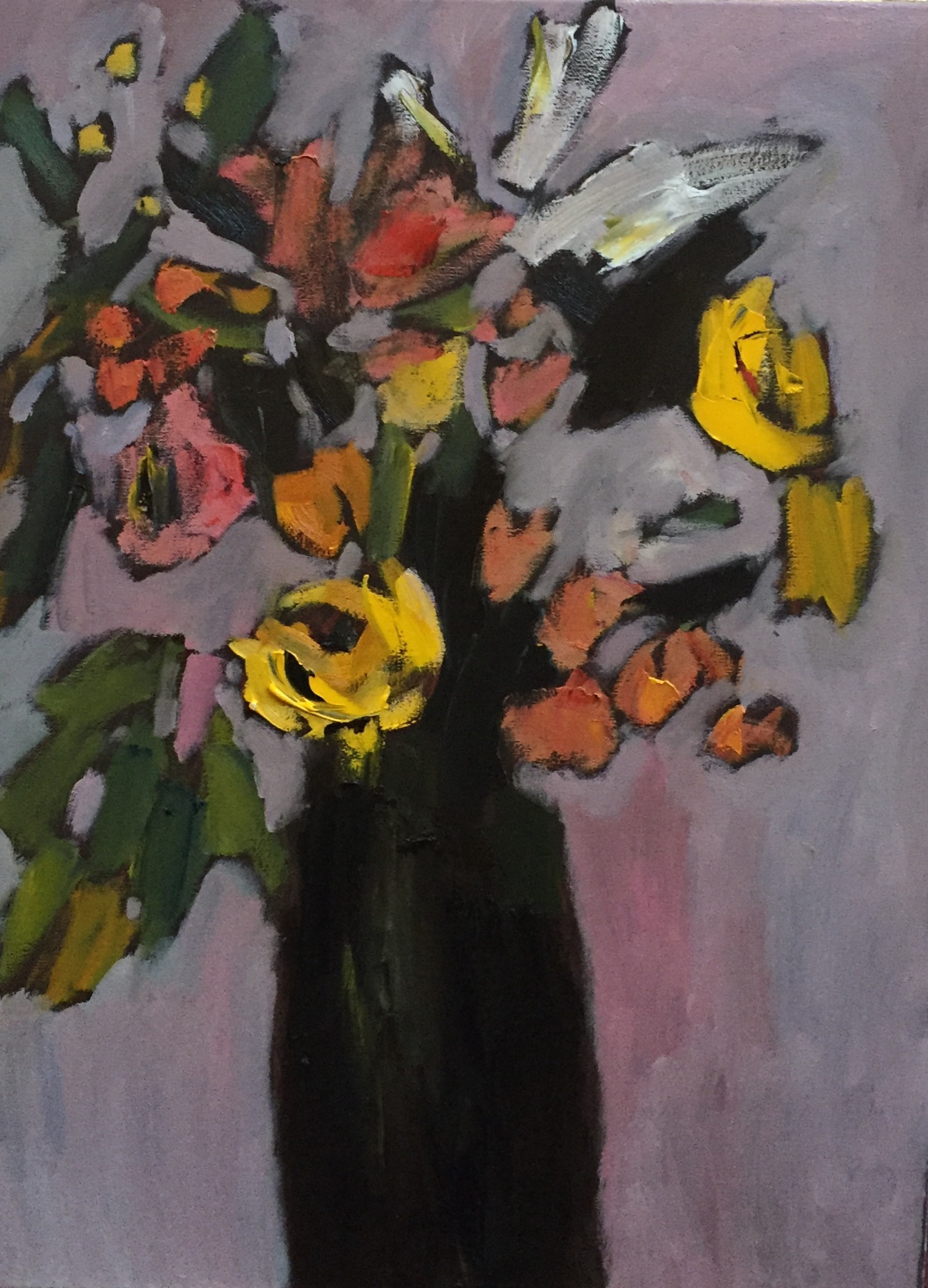 Yellow Roses, 24x18, o/c
