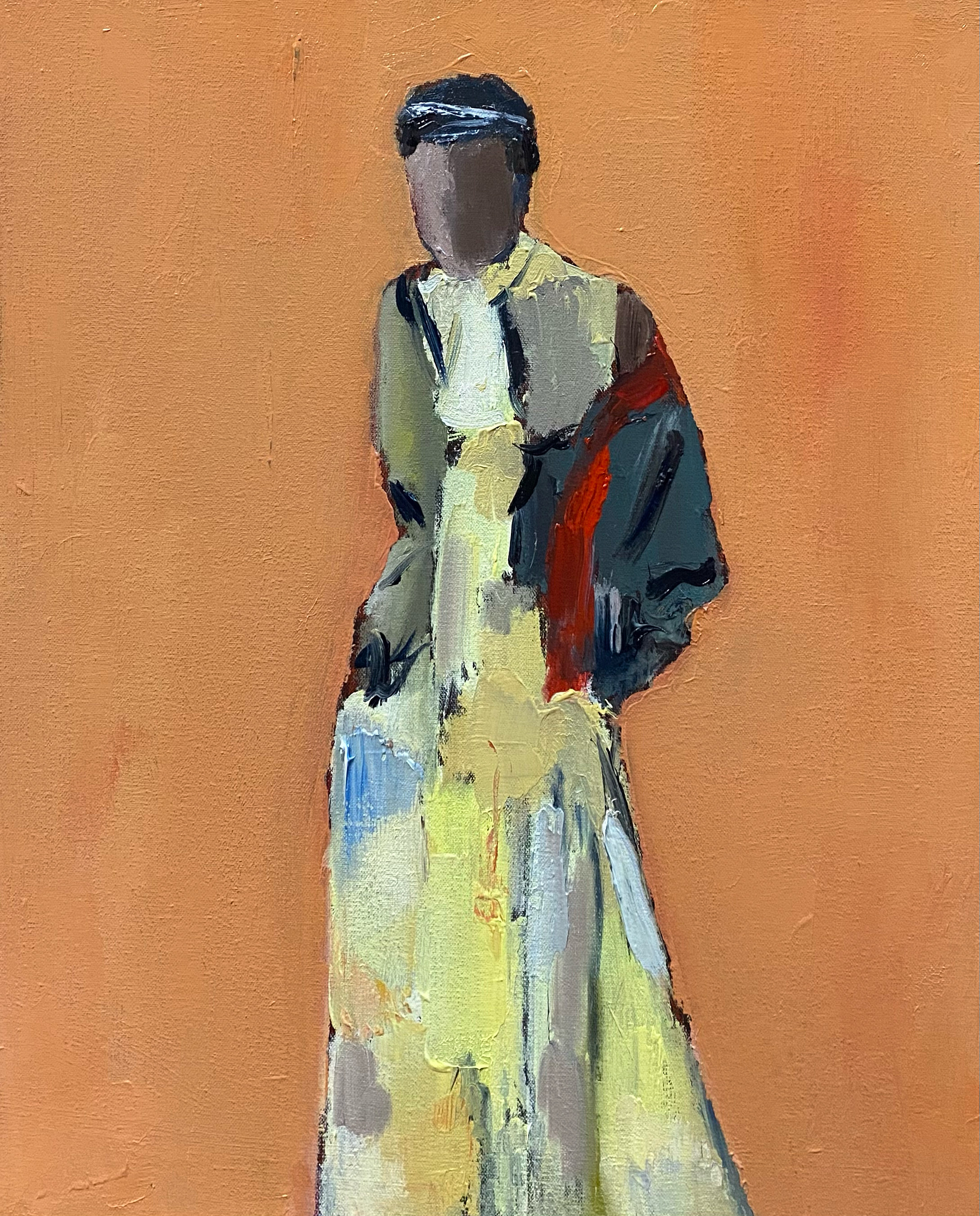 Yellow Dress, 20x16, o/c