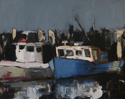 Fishing Boats, 16x20, o/c