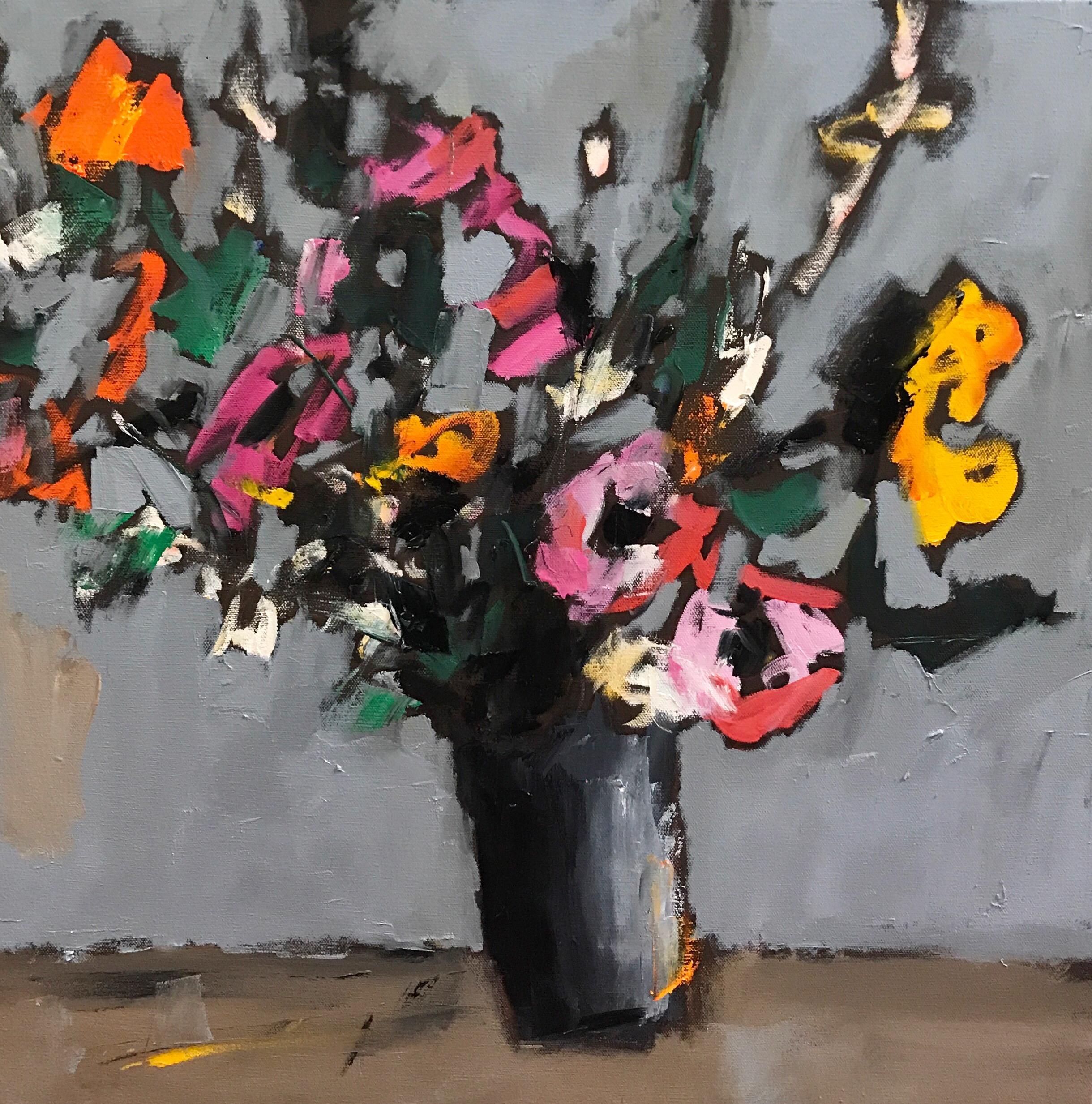 Tuesday Flowers, 24x24, o/c