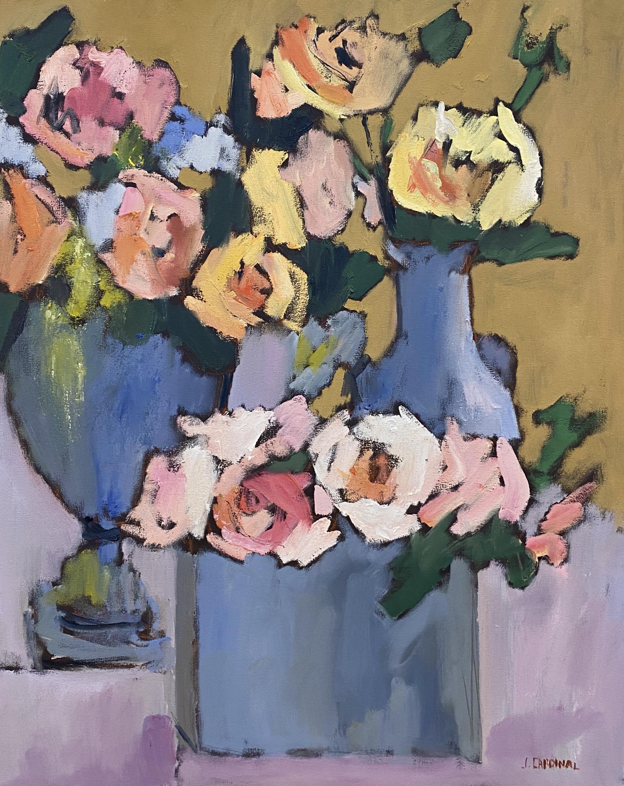 Three Vases, 30x24, o/c