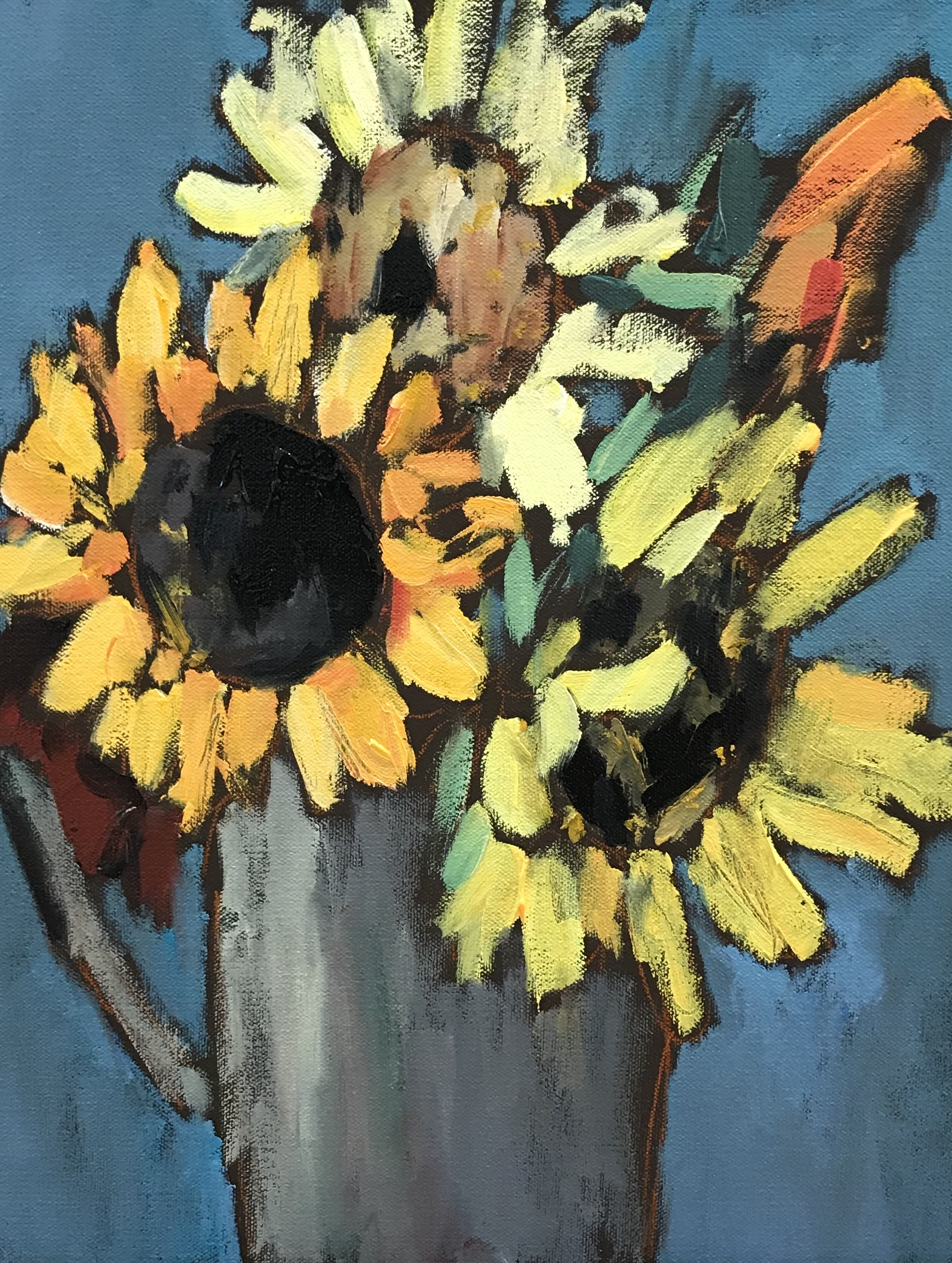 Sunflowers, 14x11, o/c