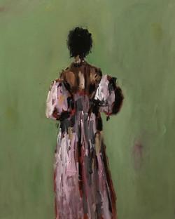 Purple Gown, 30x24, o/c