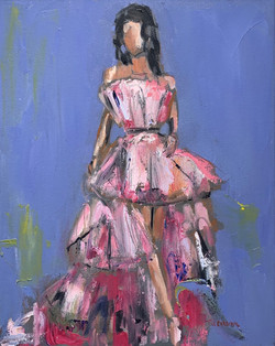 Pink Gown, 20x16, o/c