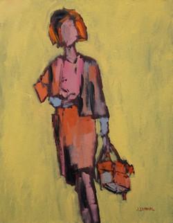 Girl in Orange, 20x16, o/c