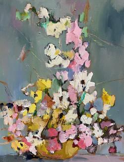 Pastel Flowers, 30x24, o/c