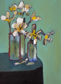Green Vases, 24x18, o/c