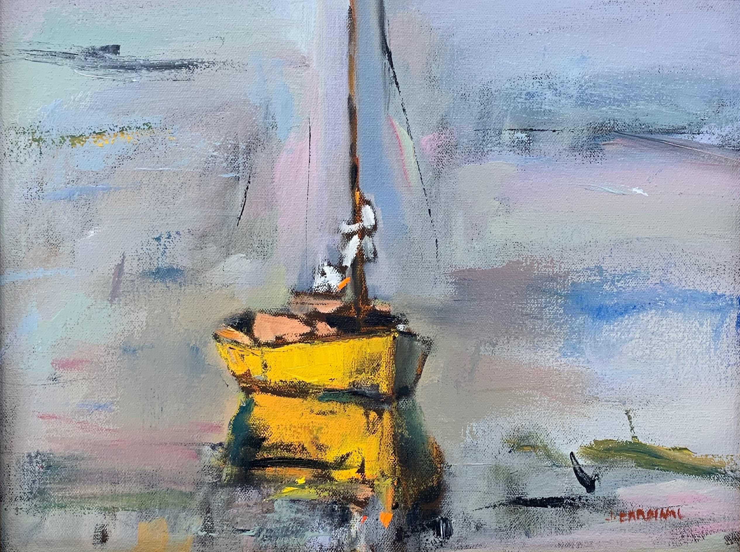 Yellow Boat, 11x14, o/c