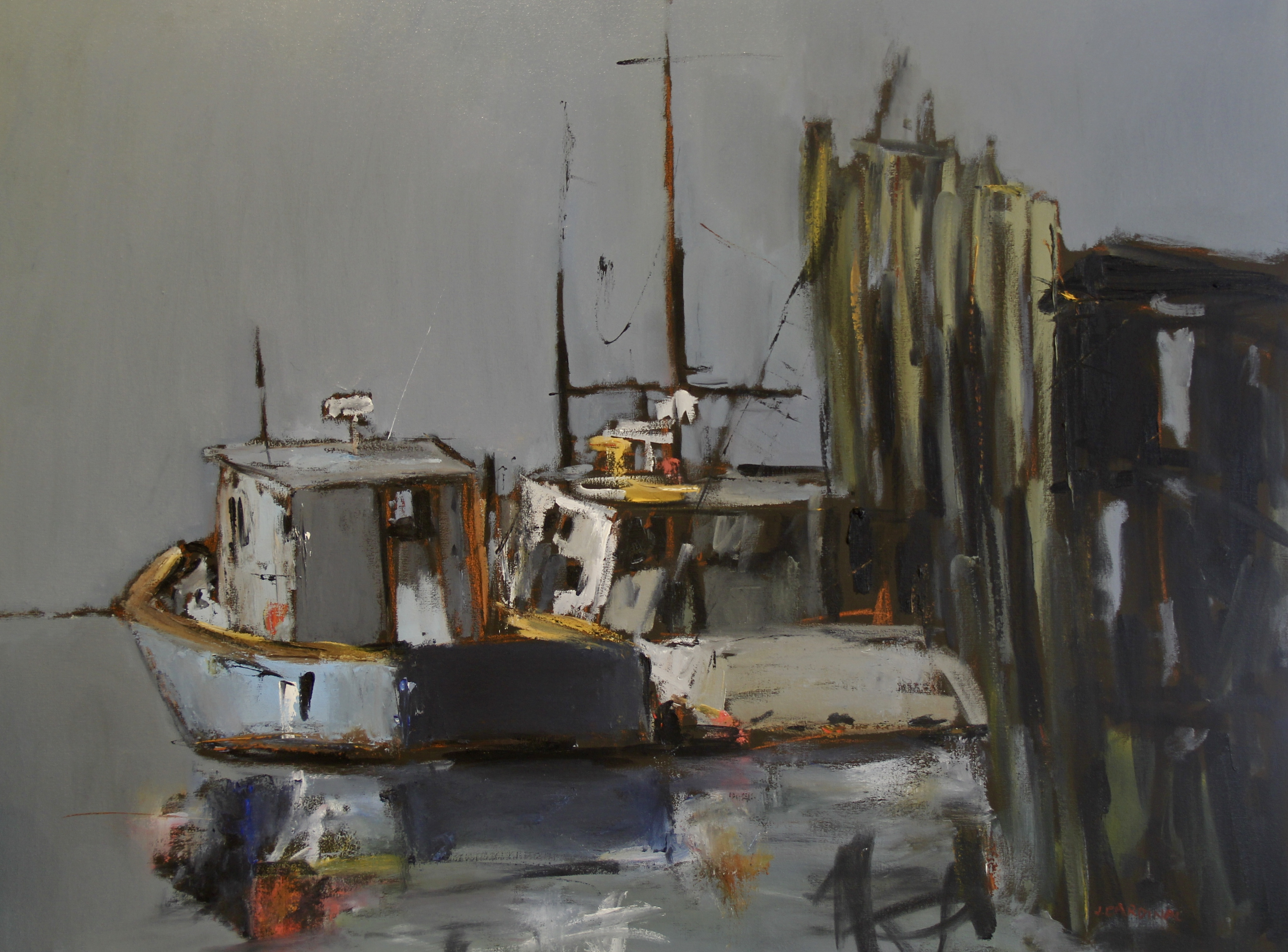 Provincetown Harbor, 30x40, o/c