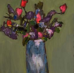 Blue Vase, 18x18, o/c