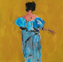Blue Gown, 24x24, o/c
