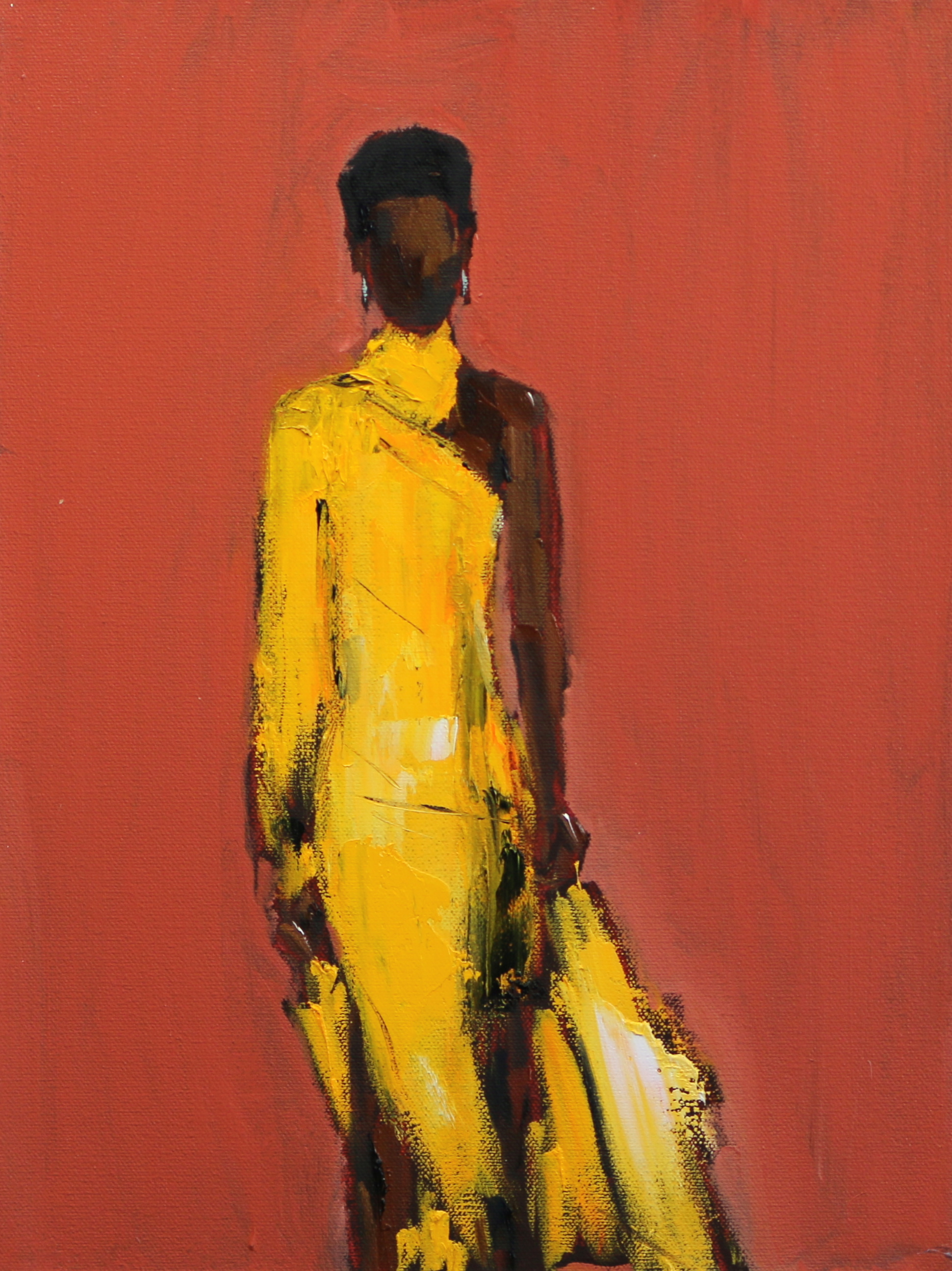 Yellow Dress, 14x11, o/c
