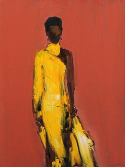 Yellow Dress, 14x11, o/c