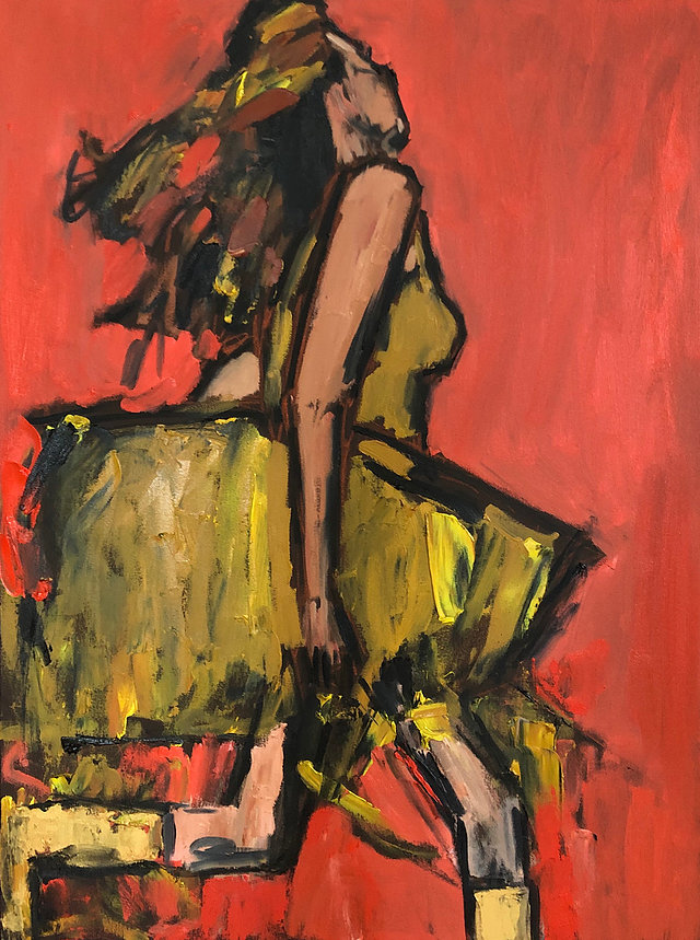 Running Girl in Yellow, 40x30, o/c