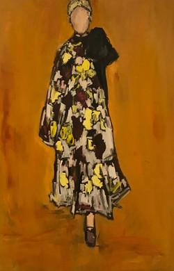 Floral Dress, 60x40, o/c
