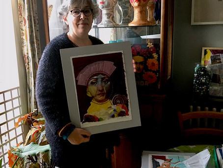 Marina Goméz Mut: Original Thread & Paper Inspirational Artwork