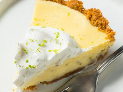 Tart Key Lime Pie on Choc/Almond/Grahm Crust