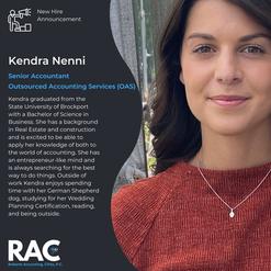 Welcome Kendra!