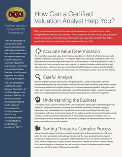 How Can a Certified Valuation Analyst Help You?