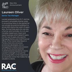 Welcome Laureen!