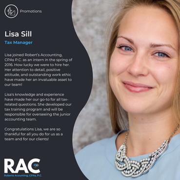 Congratulate Lisa!