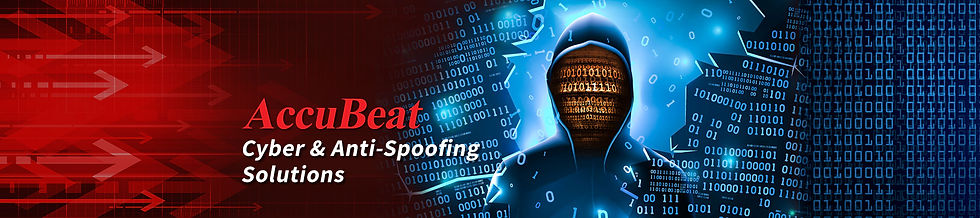 Cyber and Anti-Spoofing Solutions Banner