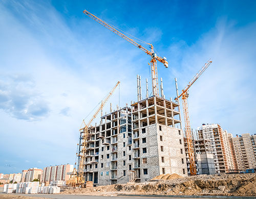 מבנה חדש בבניה