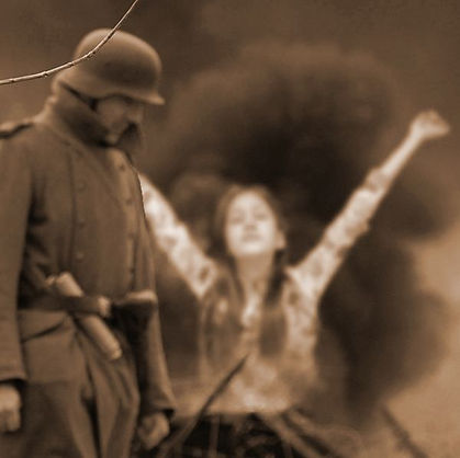 תמונת אילוסטרציה של ילדה עם חייל גרמני