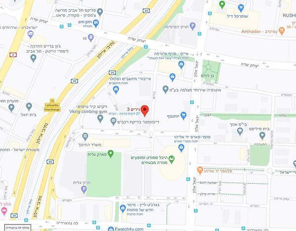 מפת משרדי איציק סימון