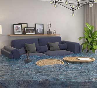 הצפת מים בסלון דירה