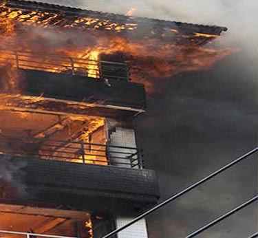 שריפה בבניין