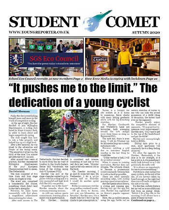 Student Comet Front Page.png
