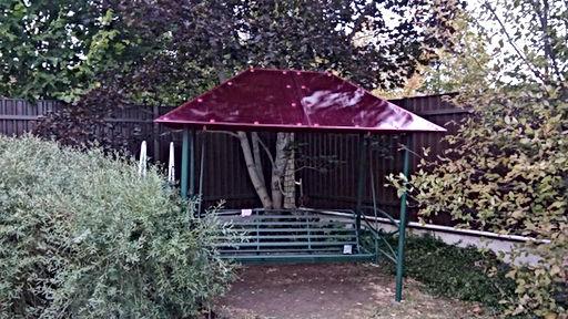 садовая качель с крышей из поликарбоната.jpgр