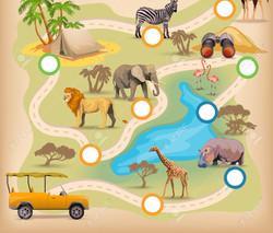 safari wonderland map