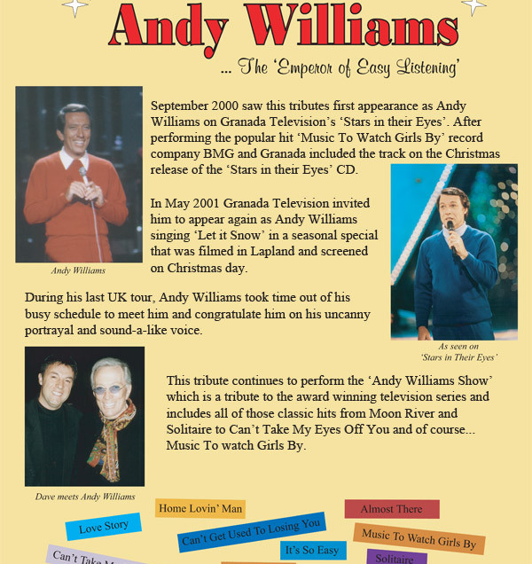 Andy Williams Tribute