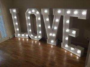LED Light Up Letters