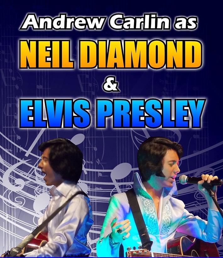 Andrew carlin as Neil Diamond & Elvis Presley | Emkay Entertainments Agency