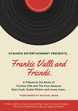 Michael Benn | Frankie Valli & Friends Tribute Show