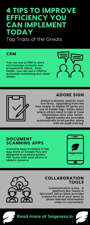 4 Tips to Improve Efficiency You Can Implement Today [Infographic]!