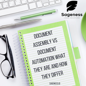 Document Assembly v. Document Automation:  What Are They and How They Differ