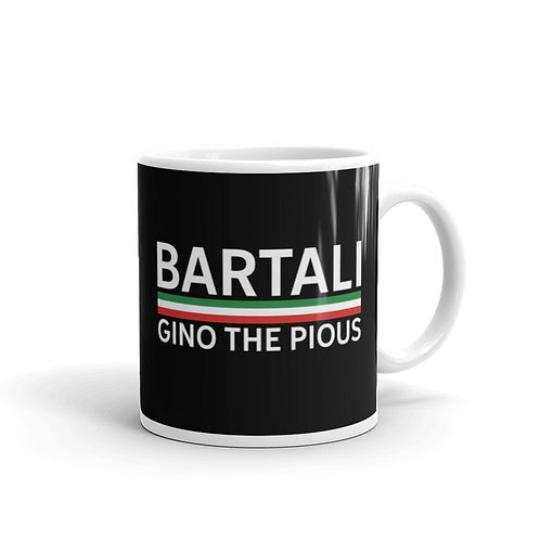 Bartali black glossy mug 11 oz.