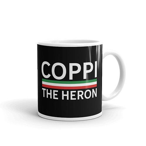 Coppi black glossy mug 11 oz.