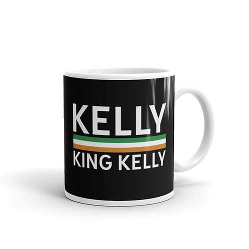 Kelly black glossy mug 11 oz.