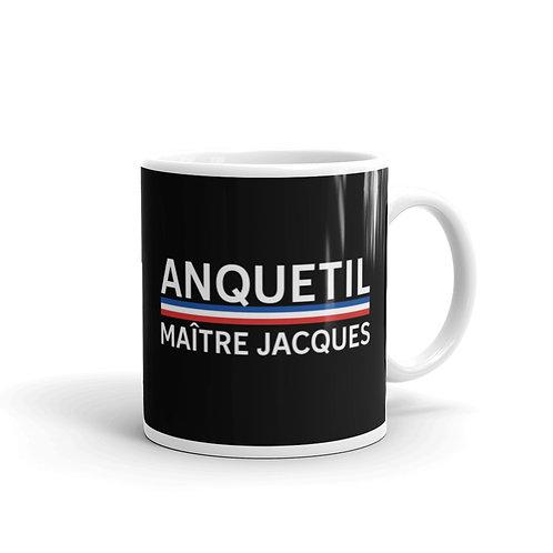 Anquetil black glossy mug 11 oz.