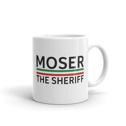 Moser white glossy mug 11 oz.
