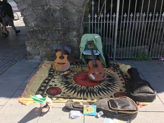 Busking Galway