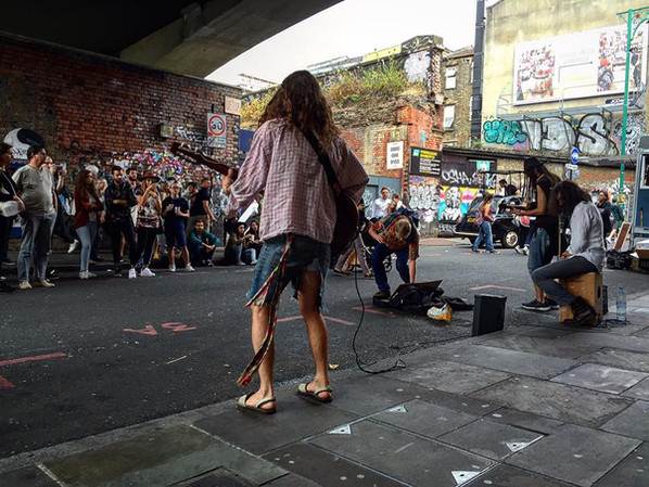 Busking Brick Lane